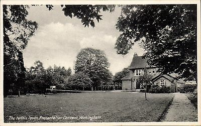 Wokingham Presentation Convent. The Tennis Lawn.