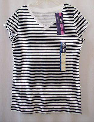 NWT girls Cherokee Short Sleeve navy striped tee size L 10/12  New With Tags