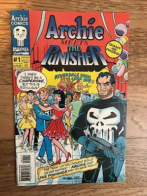 Archie Meets The Punisher #1 Comic First Print 1994 Marvel Rare