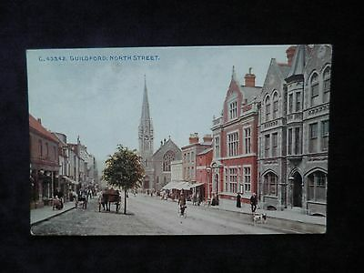 Old Photochrom Postcard Of Guildford: North Street
