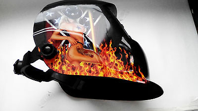 AUTO DARKENING WELDING HELMET WELDERS MASK SHIELD POLE DANCER Design