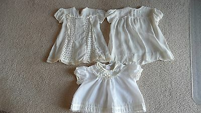 2 Vintage Infant Dresses 1 With Lace 1 With Embroidery + Vintage Lace Top