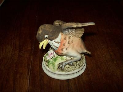 Lefton Bisque China Robin Hand-Painted in Japan