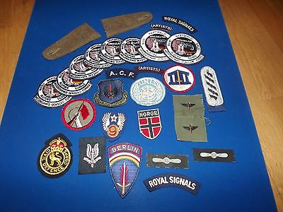 Collection of Vintage Military, Astronaut and Other Cloth Badges