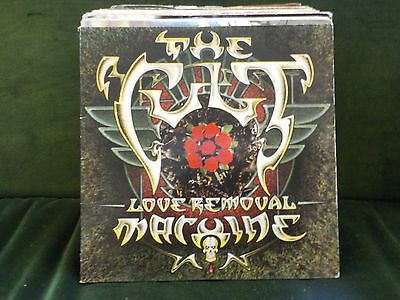 """The Cult Love Removal Machine / Wolf Child Blues Limited Goth Rock 2X 7"""" Vinyl"""