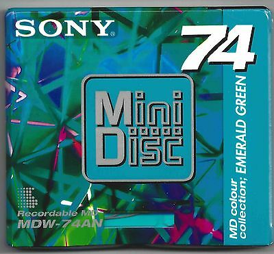 Sony Emerald Green Mini Disc / MDW-74EN Recordable Shock Absorbing