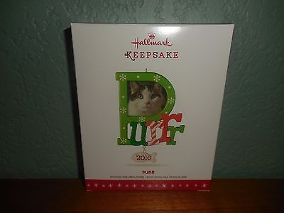 "Hallmark Keepsake 2016 ""Cat  Purr""  Picture Frame Photo Holder Holiday Ornament"