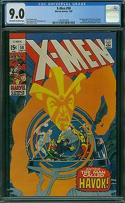 X-Men 58 CGC 9.0 - OW/W pages
