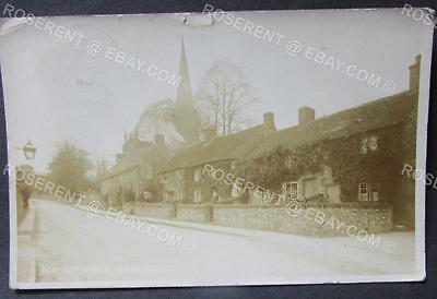 1906 Bakewell - Old  Thached Cottages  -Derbyshire - Real Photo Postcard