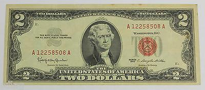 1963 $2 Legal Tender Note FR#1513 United States Note - AU 76695