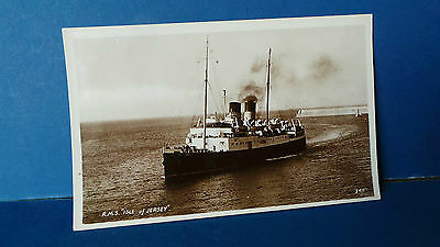 Jersey Channel Islands Postcard RMS Ship Isle of Jersey RA Postcards 3411 Real P