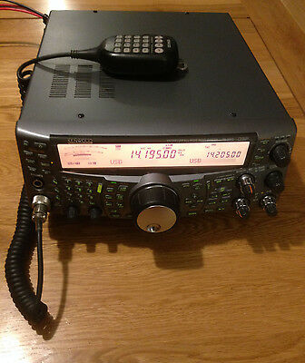 Kenwood TS-2000 HF/VHF/UHF DSP Tranceiver, boxed and with DTMF Hand Mike in VGC