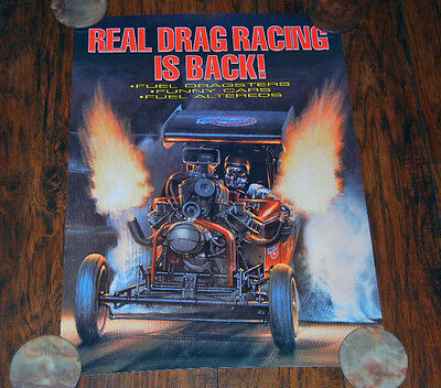 Kenny Youngblood Wing Express Drag Racing Poster Wild Willie Borsch 20 X 28 Mint
