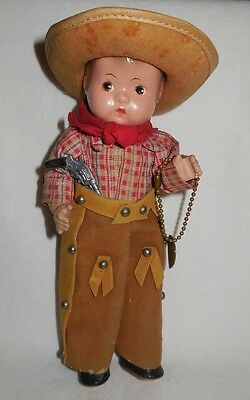 Rare HTF 1936 Texas Centennial Effanbee Tinyette COWBOY Tagged Outfit 10Gal-Hat
