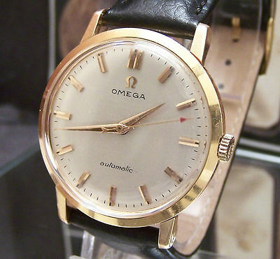 Vintage 58' Stunning Omega Cal 501 Solid 18K Gold Automatic Watch + Box Serviced