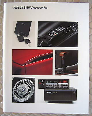 Bmw Official Dealer Accessories Sales Brochure 1992-1993 Usa Edition