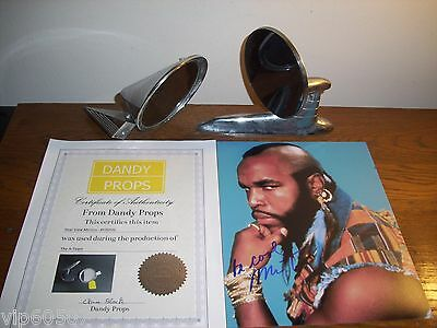 "Original ""a-Team"" Mr.t Signed Photo,and 2-Original Mirror Props From Tv Show,coa"