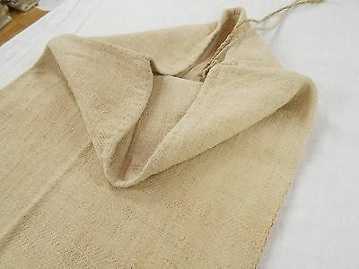 17x48 Vtg Antique NO STRIPE European HEMP LINEN Fabric FEED SACK GRAIN BAG
