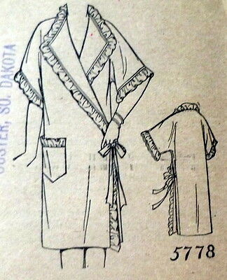 RARE VTG 1930s NEGLIGEE Sewing Pattern BUST 36 OLD DEADSTOCK