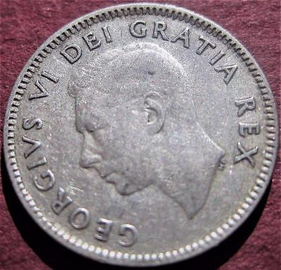 1948 Canada 10 Cents ~ Key Date Low Mintage ~ Silver Dime Coin ~ Kgvi ~ Lot Mi-6