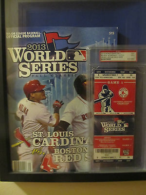 2013 World Series program and graded ticket Red Sox Cardinals