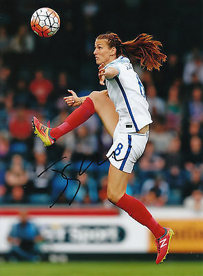 "JILL SCOTT AUTOGRAPH ENGLAND LADIES HAND SIGNED ""10x8"" PHOTO MANCHESTER CITY"