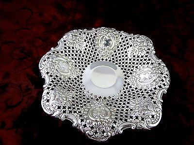 Gorgeous 1895 SHEFFIELD MAPPIN BROS Sterling Silver PIERCED FOOTED BOWL 3.80 oz