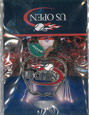 U.S. Open 2015 Tennis pin - cut-out apple - Grand Slam collector badge