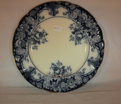 Belmont Flow Blue Plate 10 inches - JHW & Sons Hanley England - Perfect    #2