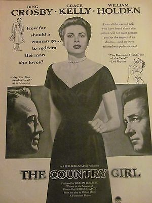 The Country Girl, Grace Kelly, Full Page Vintage Promotional Ad