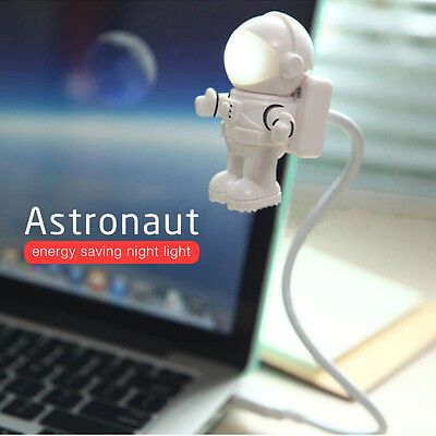 Astronaut LED Flexible USB Night Light Mini Lamp For Laptop PC Notebook Reading