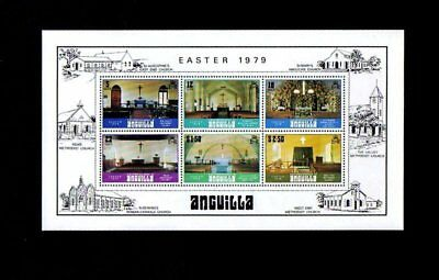 Anguilla - 1979 - Easter - Church - Interior - Mint S/sheet!