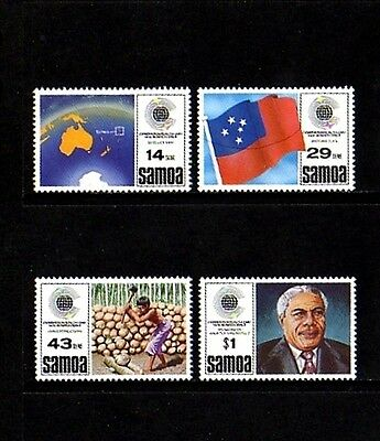 Samoa - 1983 - Commonwealth Day - Map - Flag - Copra + Mint - Mnh Set!