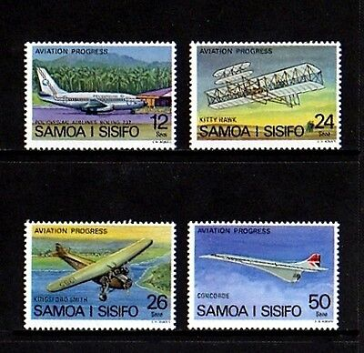 Samoa - 1978 - Aircraft - Aviation - Boeing - Concorde ++ Mint - Mnh Set!
