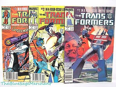 Marvel The TRANSFORMERS 1984 Limited Series 1,2,3! Comic Books