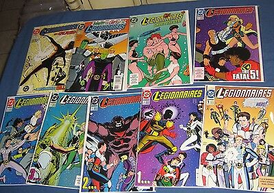 9 Issues Of Legionaires #1-9 High Grade NM