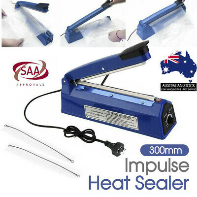 300mm Impulse Heat Sealer Electric Plastic Poly Bag Sealing Machine