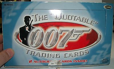 2004 Rittenhouse Archives The Quotable James Bond empty box only