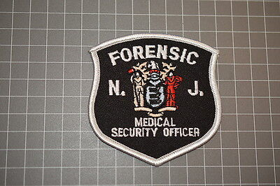 New Jersey Forensic Medical Security Officer Patch (B11)