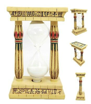 Egift Ancient Egyptian Palace Pillar with Hieroglyphs Column Sandtimer Statue