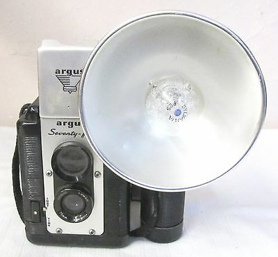 Vintage--Argus--Seventy-Five--Box Camera--With Flash Attchment