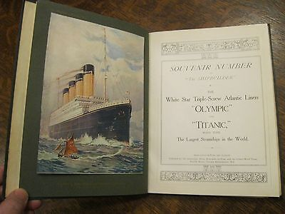 1911 Shipbuilder Souvenir Edition Book - Olympic & Titanic (Early Rebound)