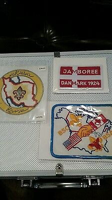 BSA Boy Scout Jamboree patch, BSC Canada and Iran patch lot.