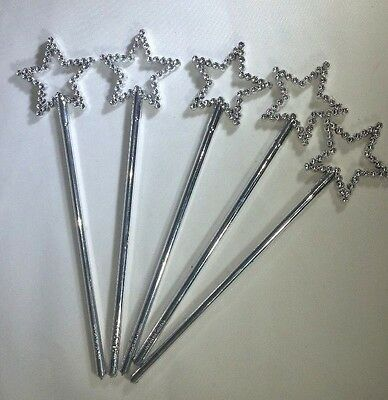Set of 5 Plastic Magic Wands - 7 inches - Crafting, Party Favors