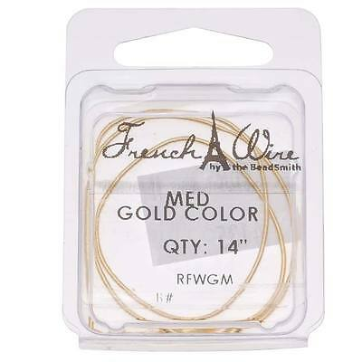 French Wire (Bullion) Gold Color Med-14 In.