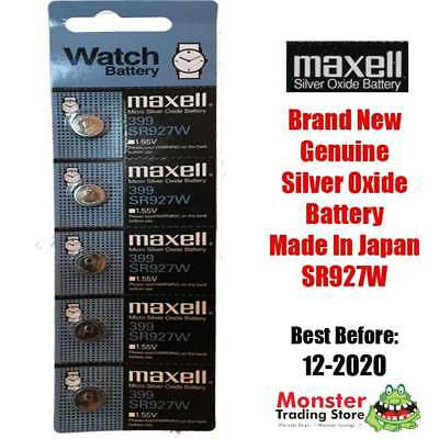 5 Pcs Sr927W 399 1.55V Silver Oxide Battery Made In Japan For Watch New