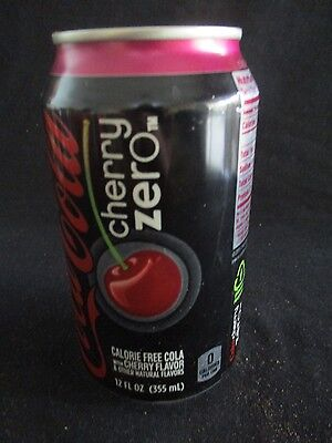 COCA COLA  CHERRY ZERO : A 355ml EMPTY CAN, ATLANTA, USA, 2013.  or146