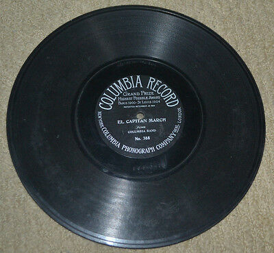 Columbia Grand Prize # 388 one sided 78 rpm Columbia Band El Capitan March Sousa