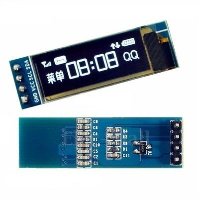 0.91'' 128x32 IIC I2C White OLED Display DIY Module DC3.3V 5V For PIC Arduino