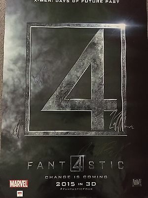 Fantastic Four Poster Signed By Eight